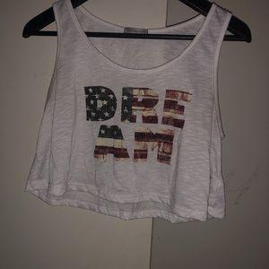 """Dream"" American Flag designed crop top"
